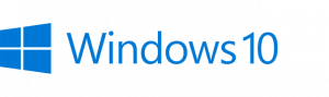 windows 10 logo left