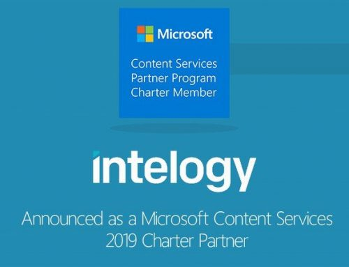 Intelogy announced as a Microsoft Content Services 2019 Charter Partner