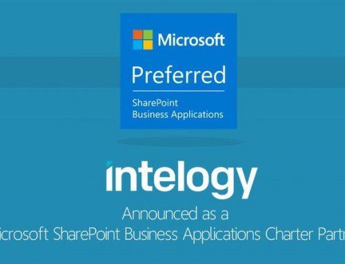 Intelogy announced as a SharePoint Business Applications Charter Partner