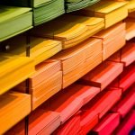 Paper in different colours
