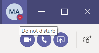 Status MS Teams Do not disturb