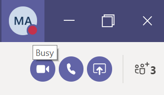 screenshot busy MS Teams