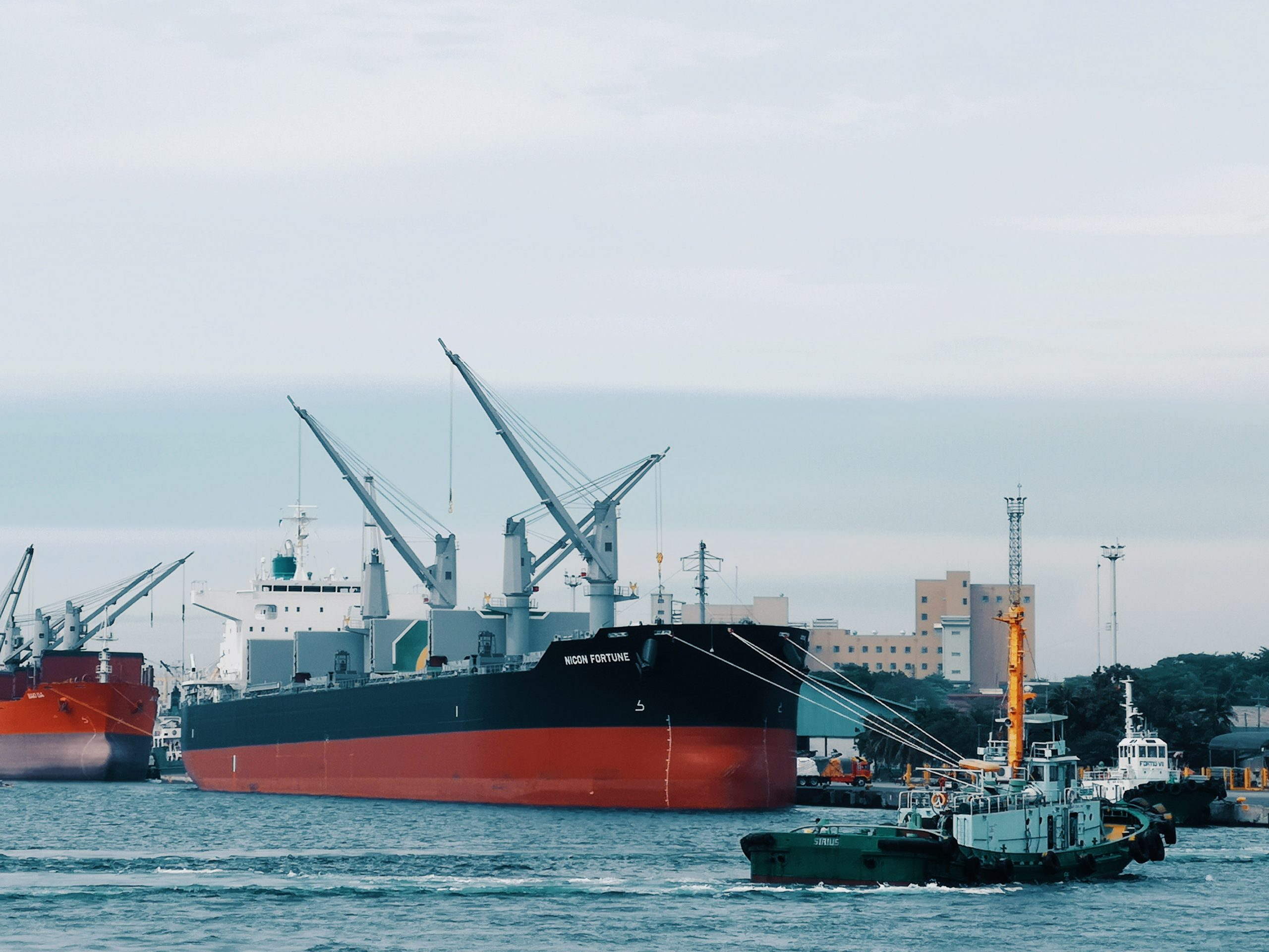 Photo of ships in port