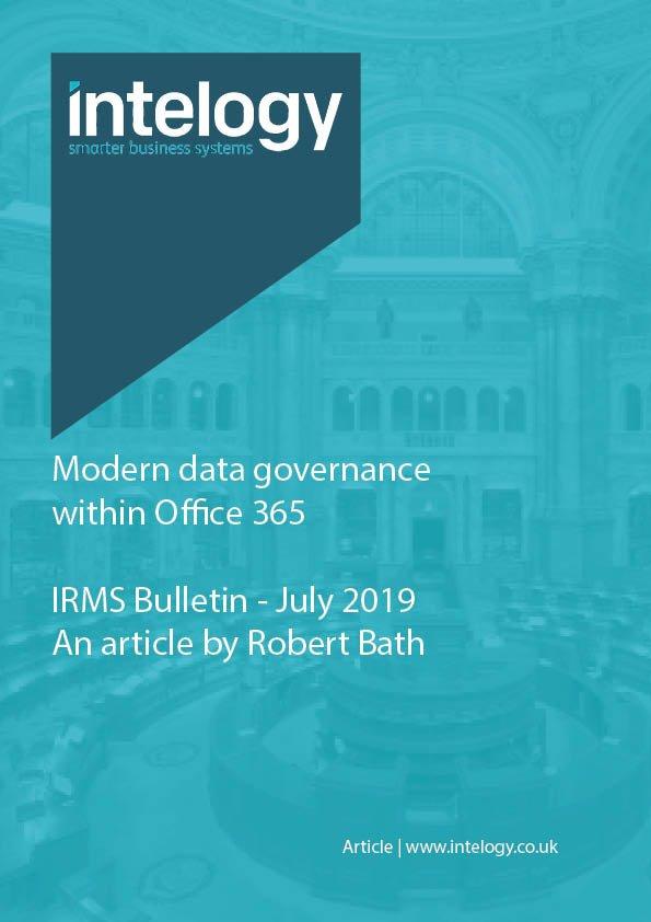 IRMS Bulletin - July 2019