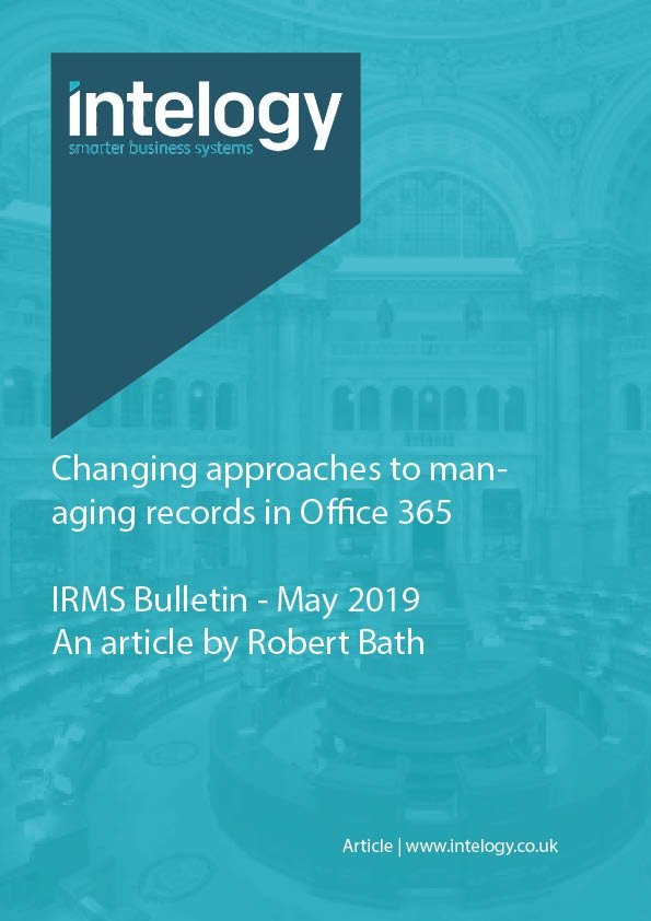 Changing approaches to managing records in Office 365
