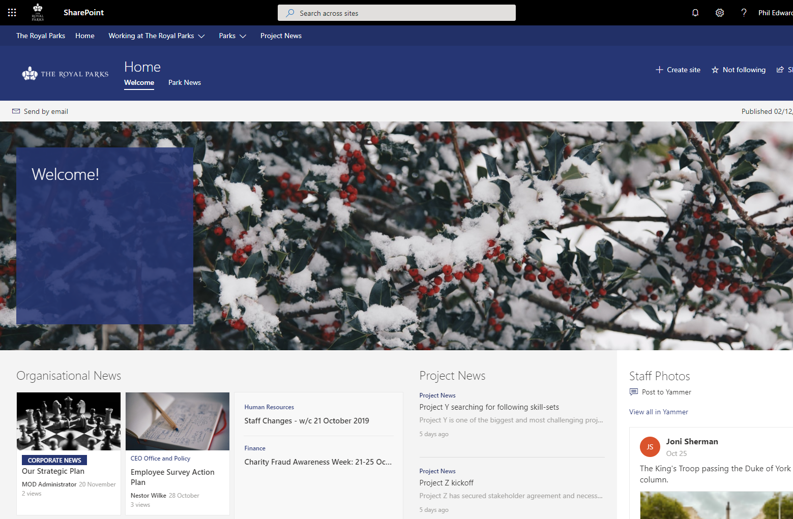Winter (Royal Blue) Homepage