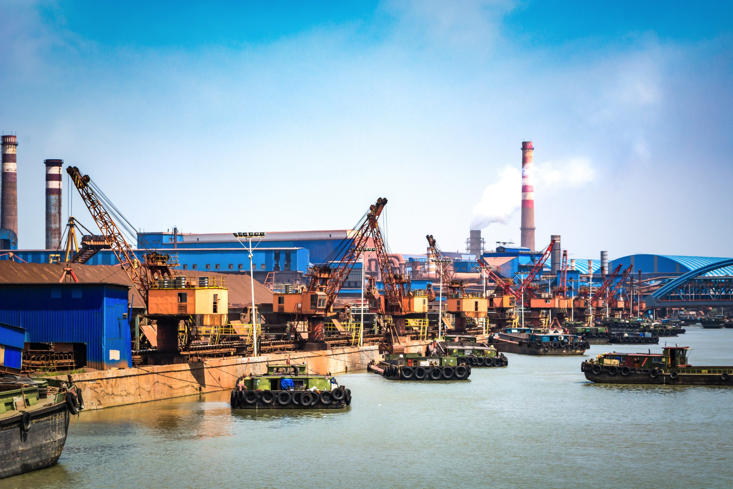 petroleum gas container ship and oil refinery background for energy nautical transportation