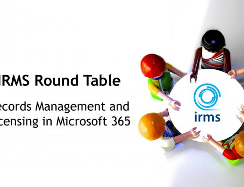 Rob Bath participates in IRMS' Round Table on Microsoft 365 retention