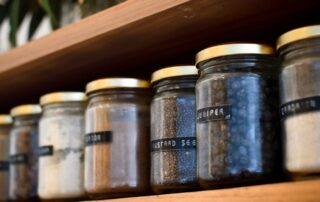 labelled spices