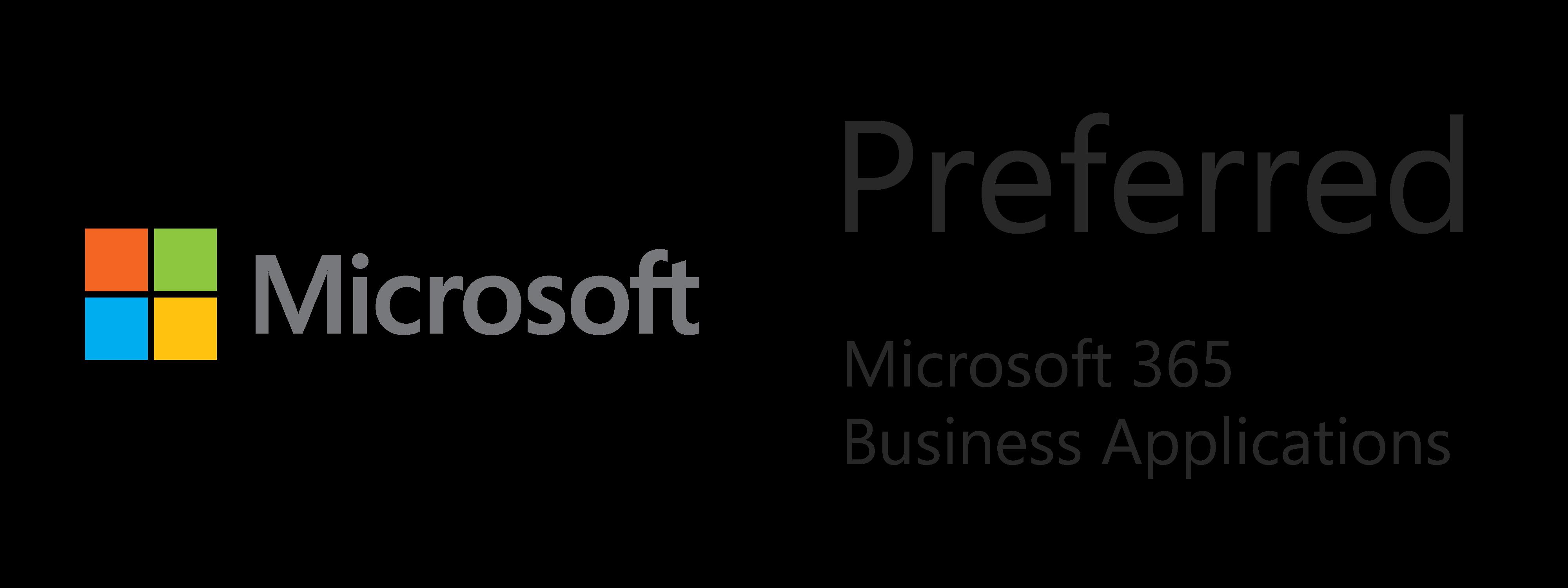 Microsoft Preferred Business Applications - Microsoft Gold Partner