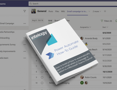 How to build a Flow to automatically send an email when a message is added to a Microsoft Teams Channel