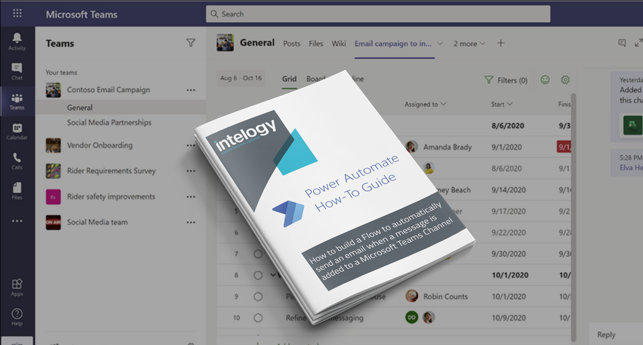 Guide: How to build a Flow to automatically send an email when a message is added to a Microsoft Teams Channel